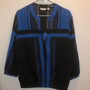 Black and Blue XL Top